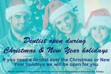 Do you need a dentist on Christmas or New Year holidays?